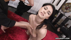 Girl with hairy cunt pleases several cocks on cam