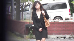Japanese piss video with two girls caught on cam
