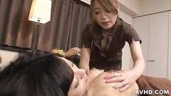 Wild dildo fuck in the massage parlor