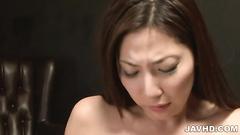 Man is kissing and fucking the bosomy Asian slut