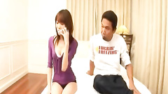 Slim and sexy Japanese chick gets pleased with passionate fuck
