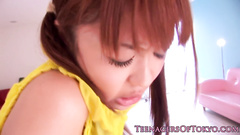 Japanese cutie chick excitingly licks with boyfriend