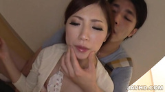 Asian close up dick sucking and stroking