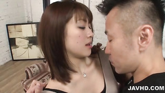 Stockings girl gets trimmed pussy on the pecker