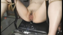 Girl with pins on her nips getting fucked anally