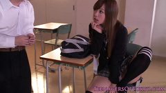 Naughty Japanese student covets to her freaky teacher