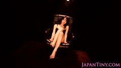 Japanese freaky dudes are stroking skinny girl with tons of vibrators