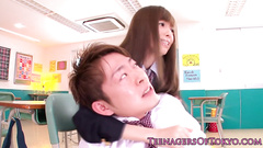 Slutty Japanese student chick covets to her young teacher