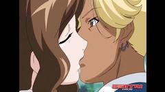 Porn anime girls are pleasing their teacher with depthroat blowjob