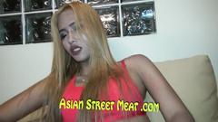 Blonde Asian amateur adores having fun with hard cock