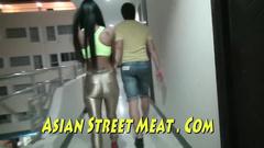 Dirty Thai gets slapped through the fishnet pantyhose