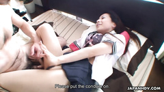 Asian schoolgirl is getting the raw fuck and suck session