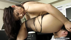 Sultry girl is experiencing the dirty office fucking