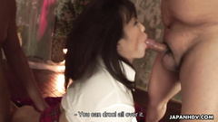 Asian college girl enjoys the rough mouth and pussy fuck