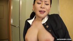 Beautiful Japanese housemaid Rei Kitajima got filmed masturbating cunt