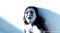 Stunning sexy Asa Akira is having erotic photo session and stroking pussy