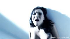 Gorgeous Japanese porn model Asa Akira loves fingering cunt and asshole