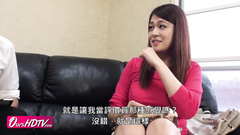 Adorable Japanese redhead chick got fucked hard at interview