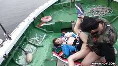 Wonderful Asian teen chick Nonoka Kaede enjoys hardcore fuck in the boat