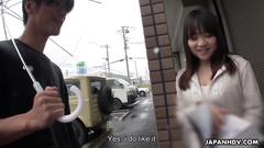Cute teen Asian girl Mikoto Mochida got hooked from street and fucked in mouth