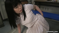 Beauty Japanese girl Sayaka Aishiro got fingered in the ass and enjoyed anal fuck