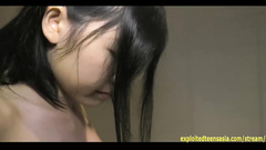 Cute Japanese teen chick Sakura Miyahara hotly poses in sexy underwear